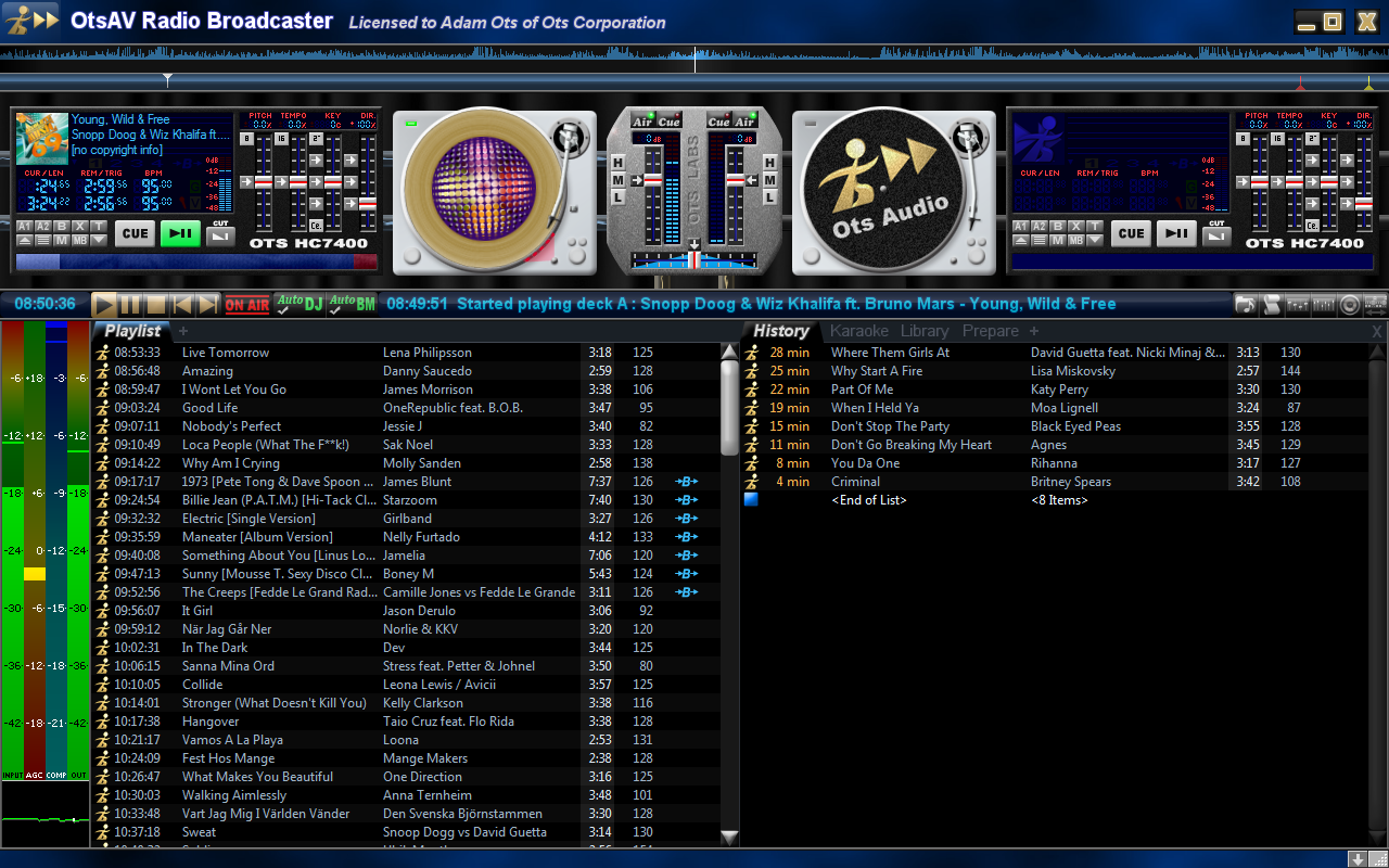 OtsAV Radio Webcaster Screenshot