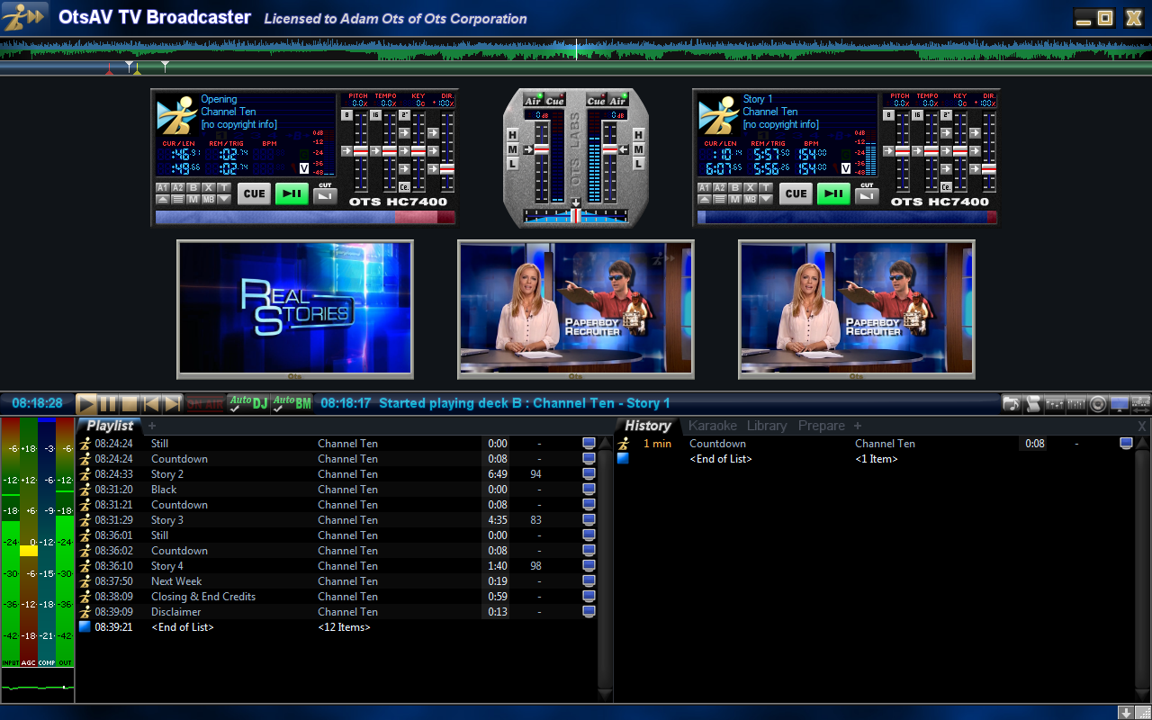 OtsAV TV Webcaster Screenshot